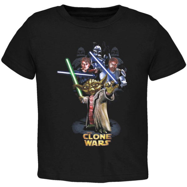 Star Wars - Clone Wars Yoda And Army Juvy T-Shirt