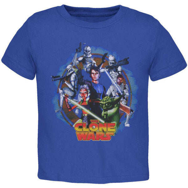 Star Wars - Clone Wars Circle Collage Juvy T-Shirt