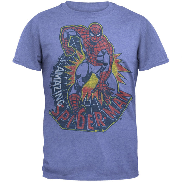 Spider-Man - Amazing Light Blue Soft T-Shirt