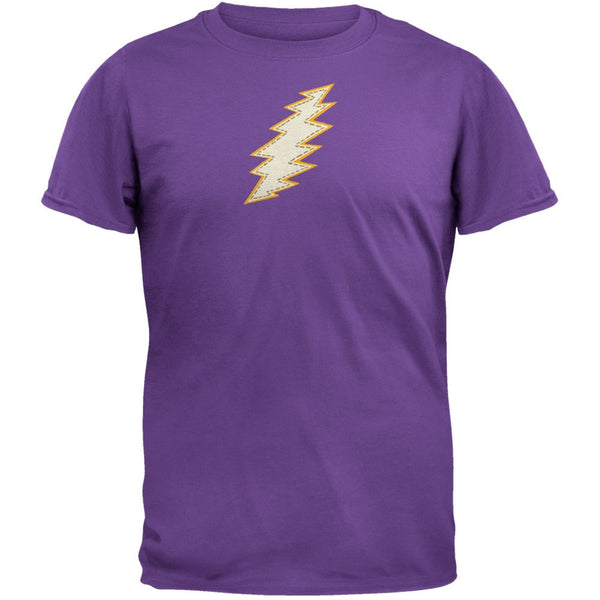Grateful Dead - Stitched Bolt Purple T-Shirt