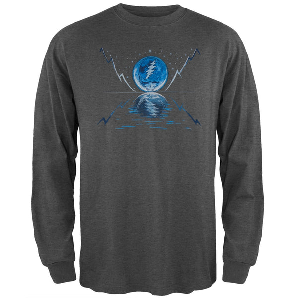 Grateful Dead - Blue Moon Grey Adult Long Sleeve T-Shirt