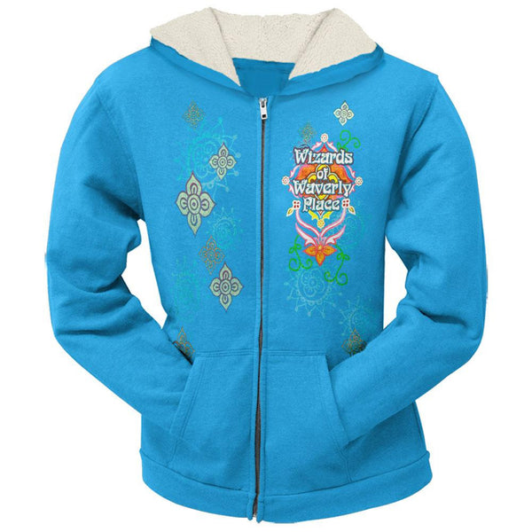 Wizards Of Waverly Place - Flower Cameo Girls Youth Zip Hoodie