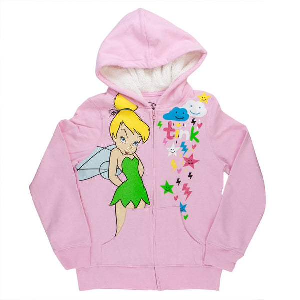 Tinkerbell - Tink Storm Girls Youth Zip Hoodie