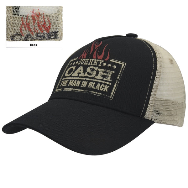 Johnny Cash - Man In Black Trucker Cap