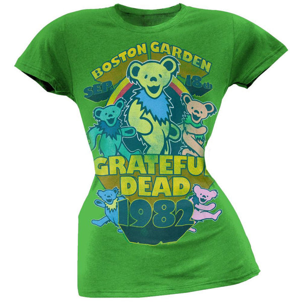 Grateful Dead - Boston Juniors Green T-Shirt