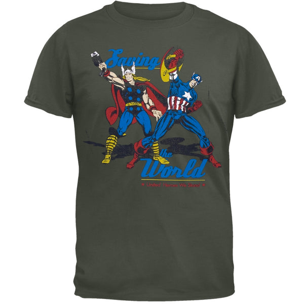 Marvel Heroes - Defending Earth Soft T-Shirt
