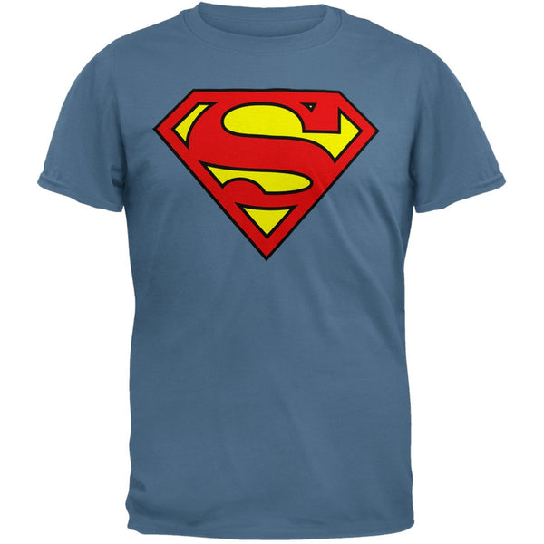 Superman - Shield Logo Slate T-Shirt