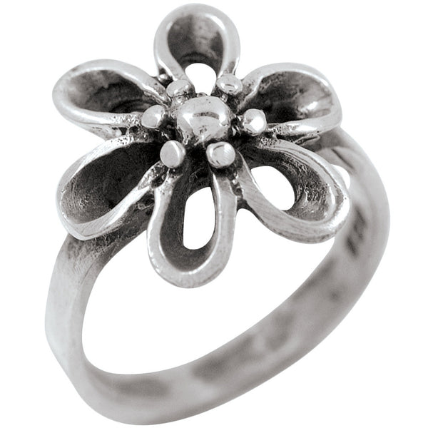 Simple Flower Sterling Silver Ring