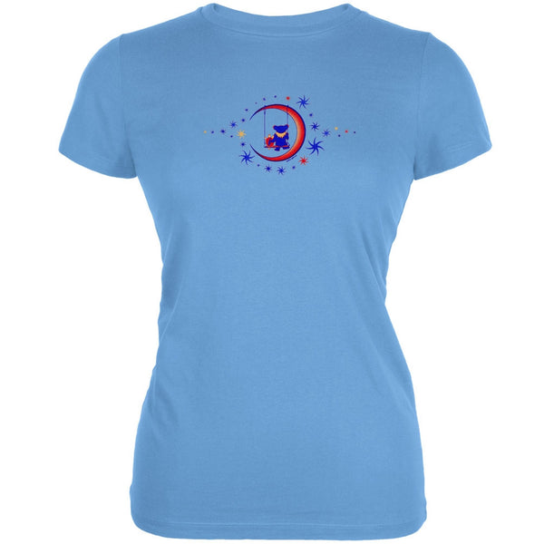 Grateful Dead - Moon Swing Light Blue Juniors T-Shirt
