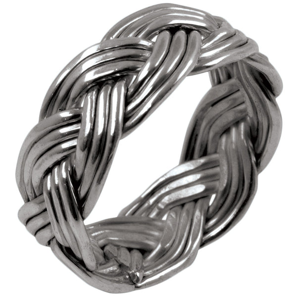 Large Woven Braid - Silver Ring