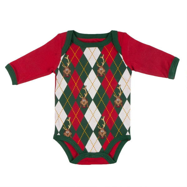 Dr. Seuss - Max Argyle Long Sleeve Baby One Piece