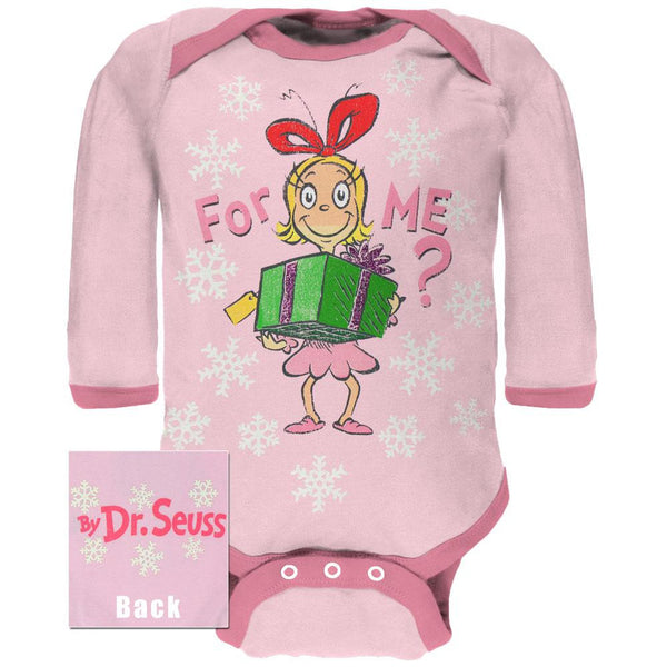 Dr. Seuss - For Me Cindy Long Sleeve Baby One Piece