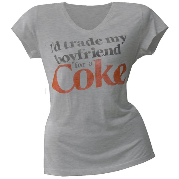 Coke - Trade My Boyfriend Juniors T-Shirt