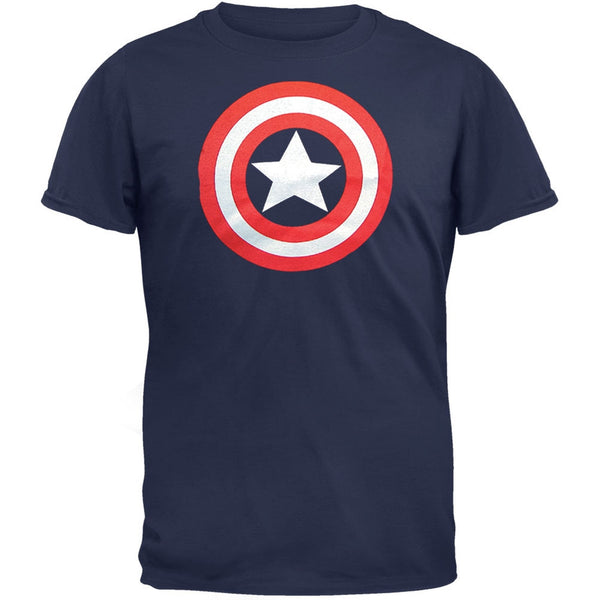Captain America - Navy Shield Logo T-Shirt