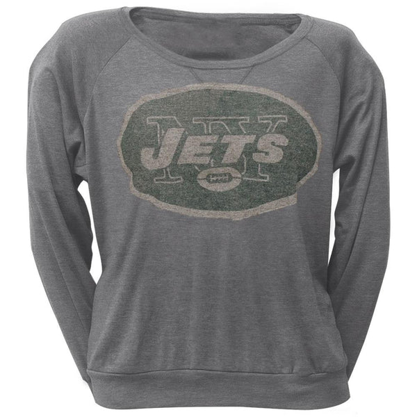New York Jets - Vintage Logo Juniors Long Sleeve T-Shirt