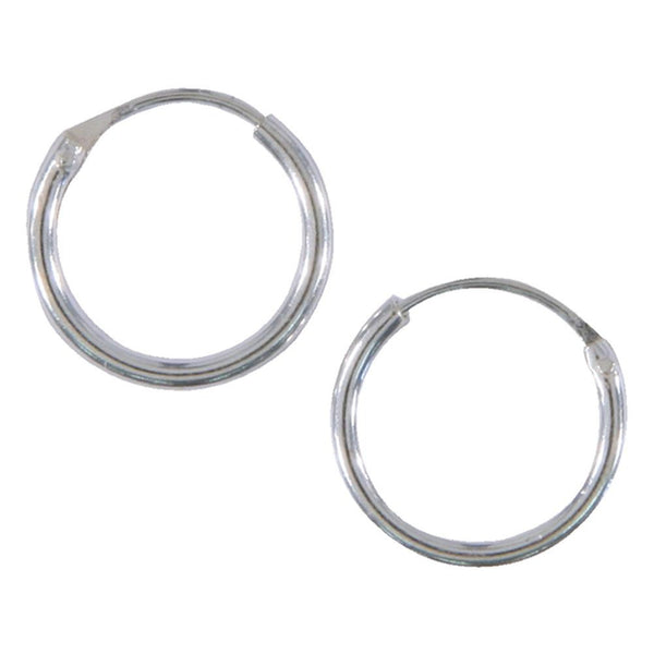 10mm Plain Hoop Earrings