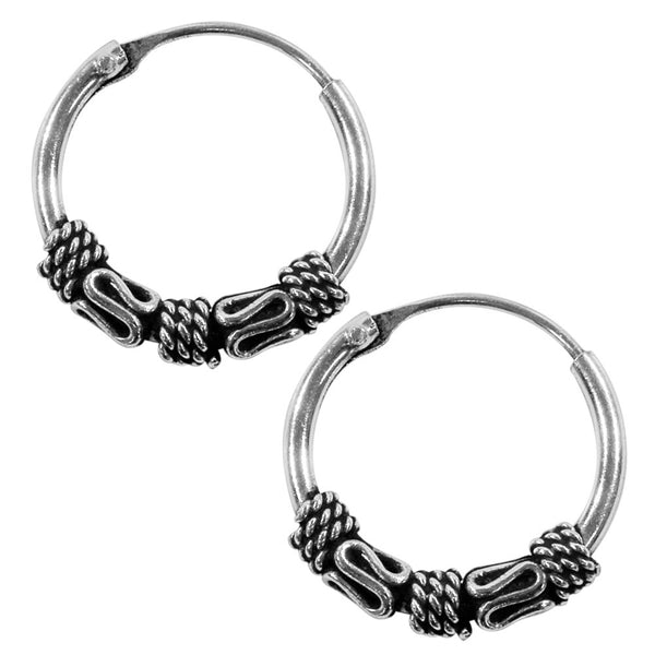 10mm Bali Hoop Rope Earrings