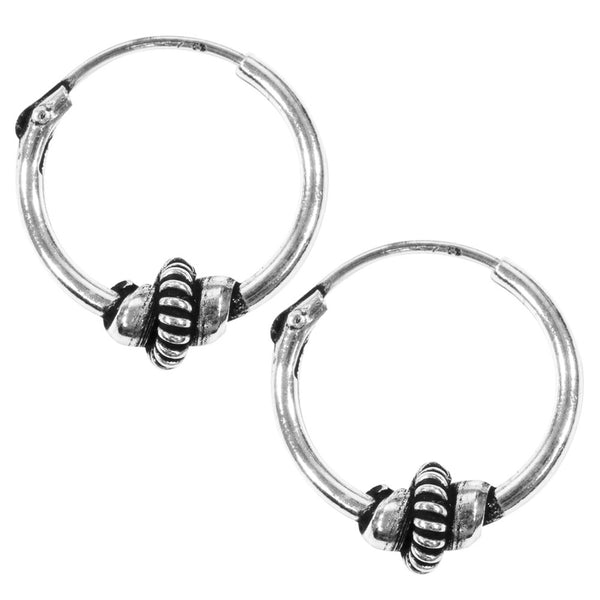 10mm Bali Hoop Spiral Earrings