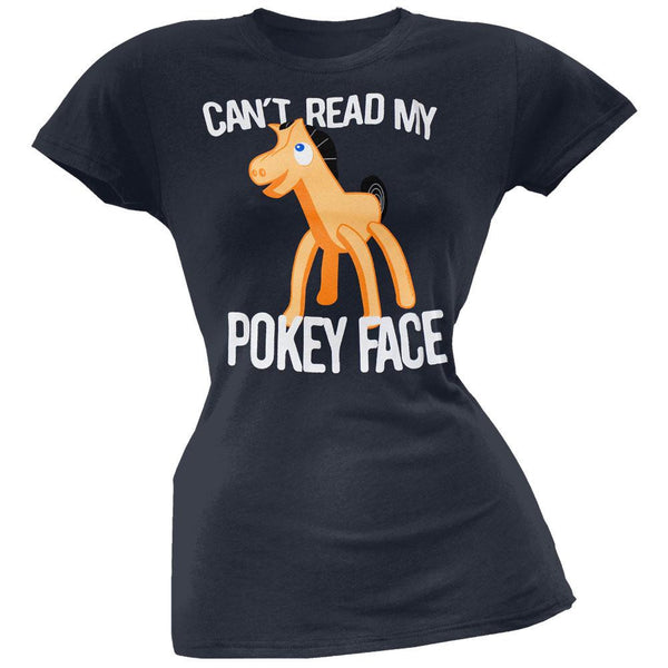 Gumby - Pokey Face Juniors T-Shirt