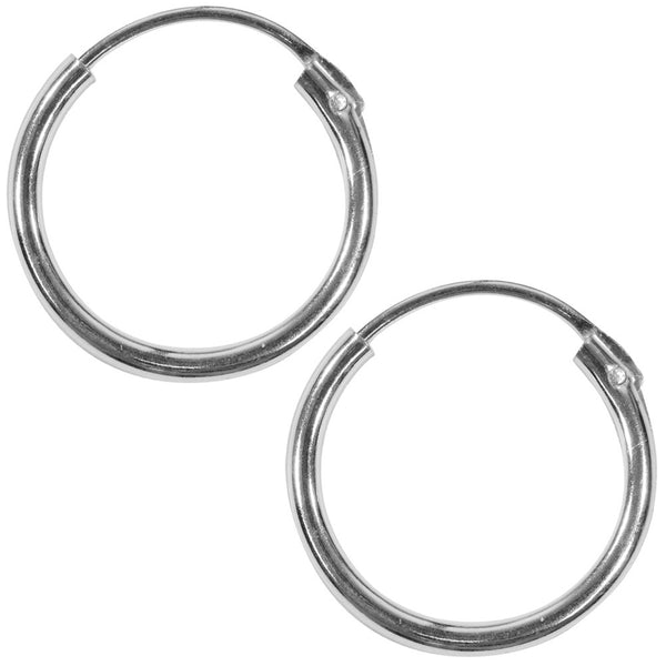 12mm Plain Hoop Earrings