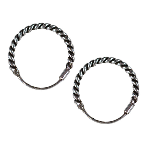 12mm Bali Hoop Earrings
