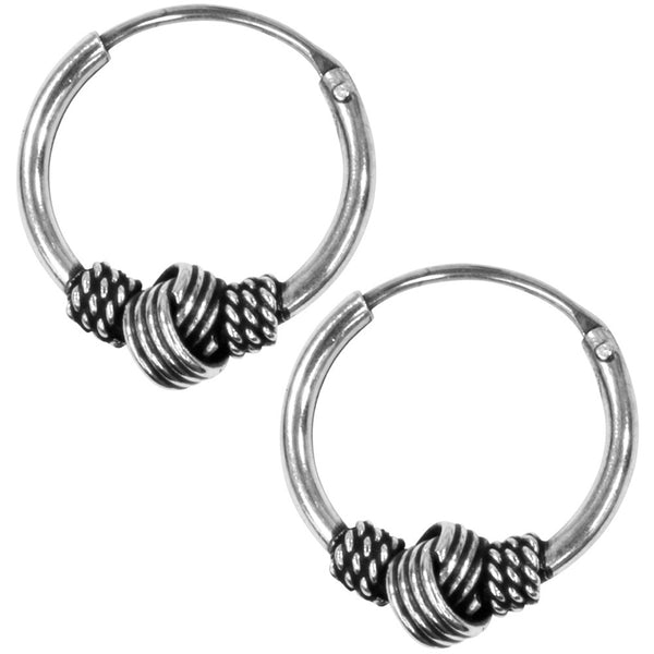 12mm Bali Hoop Knot Earrings