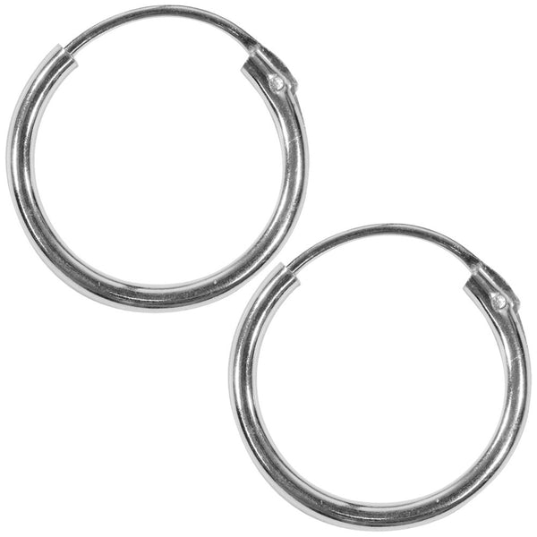 14mm Plain Hoop Earrings
