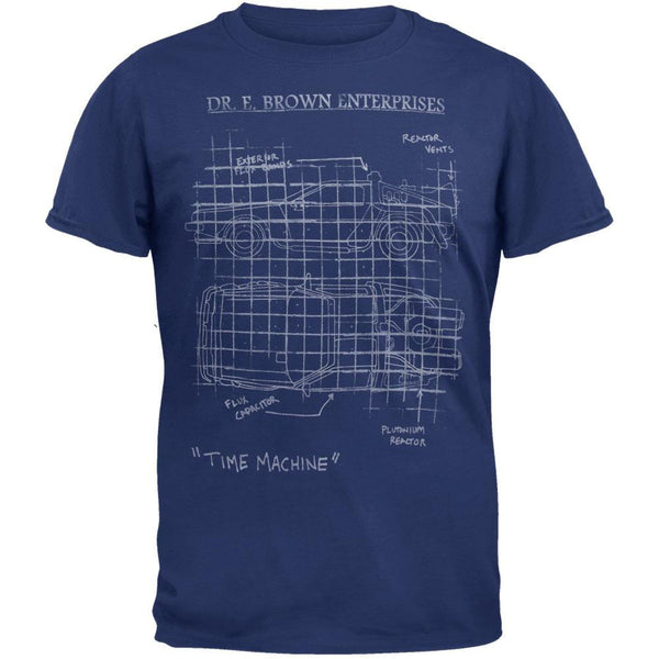 Back To The Future - Schematic Soft T-Shirt