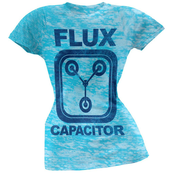 Back To The Future - Flux Capacitor Juniors Burnout T-Shirt