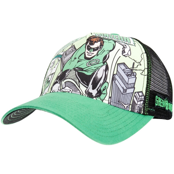 Green Lantern - Comic Collage Trucker Cap
