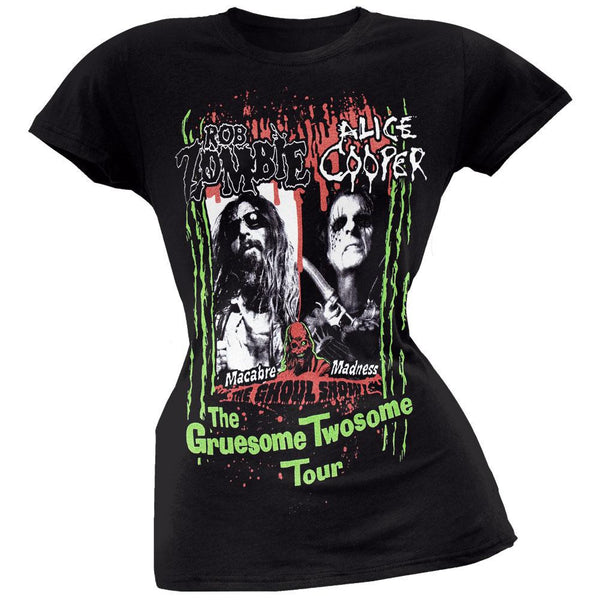 Alice Cooper & Rob Zombie - Gruesome Juniors T-Shirt