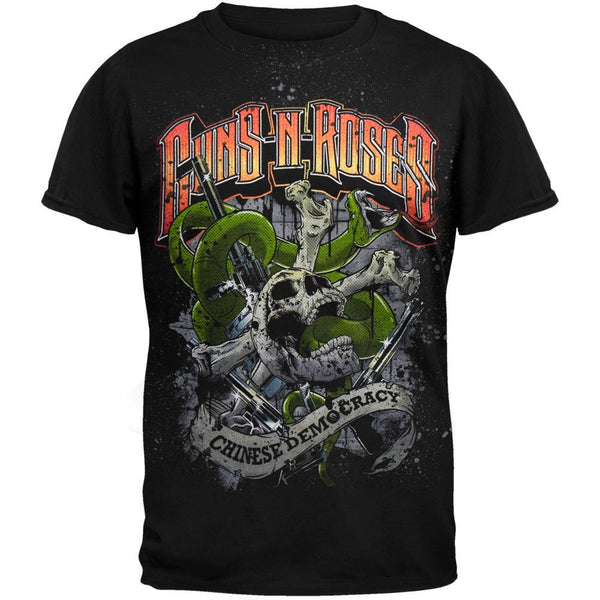 Guns N Roses - Snakes Black T-Shirt