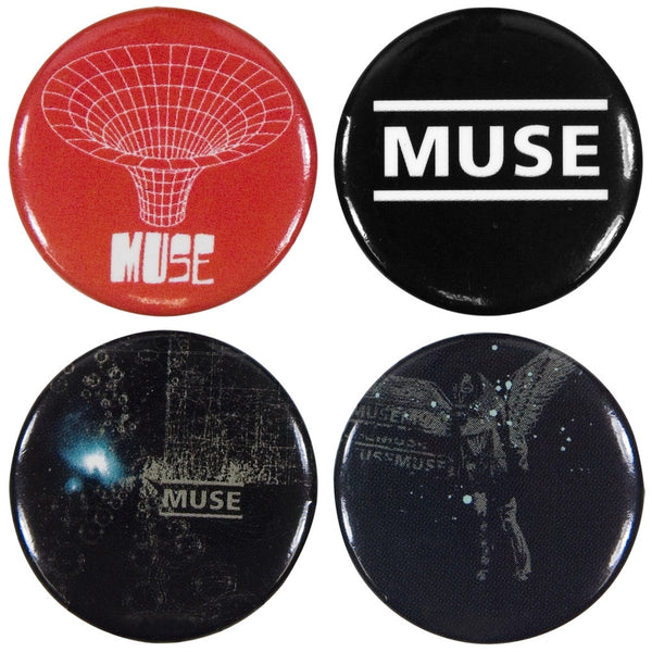 Muse - Classics 4 Piece Button Set