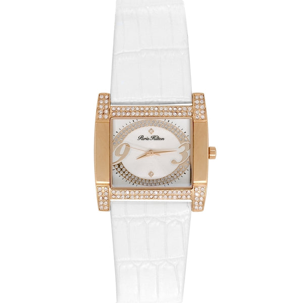 Paris Hilton Watches - Coussin White Band White Dial Watch