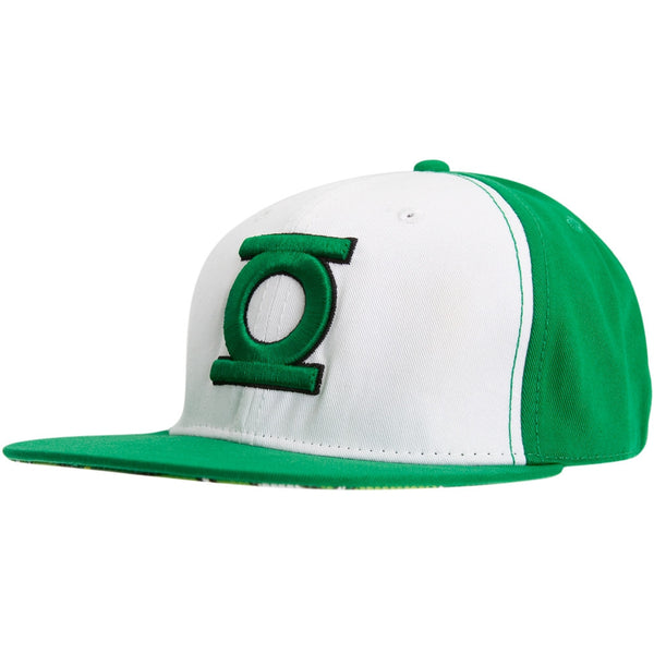 Green Lantern - Classic Logo White & Green Fitted Cap