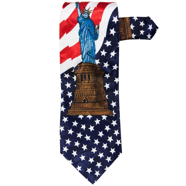 American Flag Lady Liberty Neck Tie