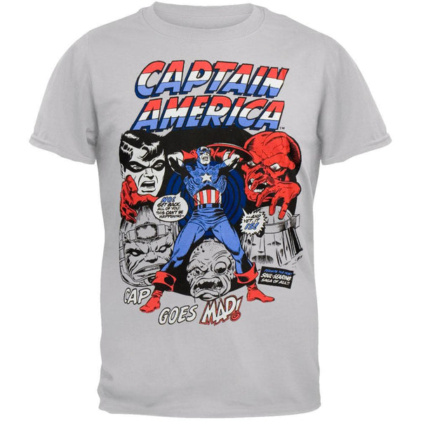Captain America - Cap Goes Mad Soft T-Shirt