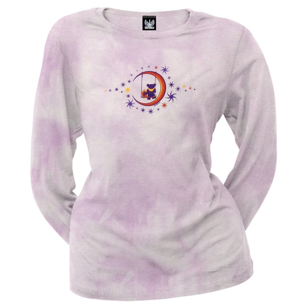 Grateful Dead - Moon Swing Pink Youth Long Sleeve T-Shirt