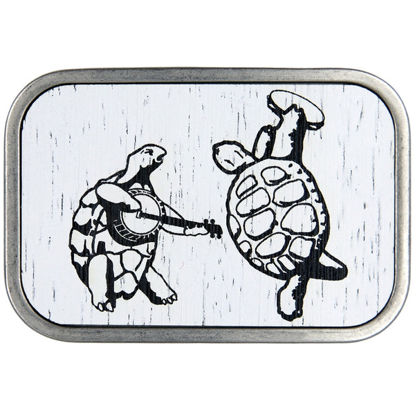 Grateful Dead - Dancing Terrapins Wood White Belt Buckle