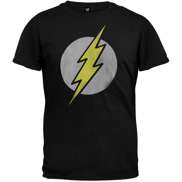 Flash - Distressed Logo Black T-Shirt