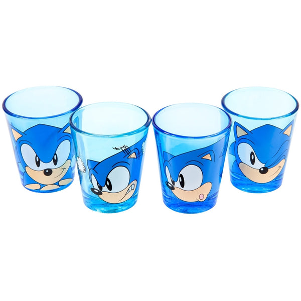 Sonic The Hedgehog - Face Shot Glass Set