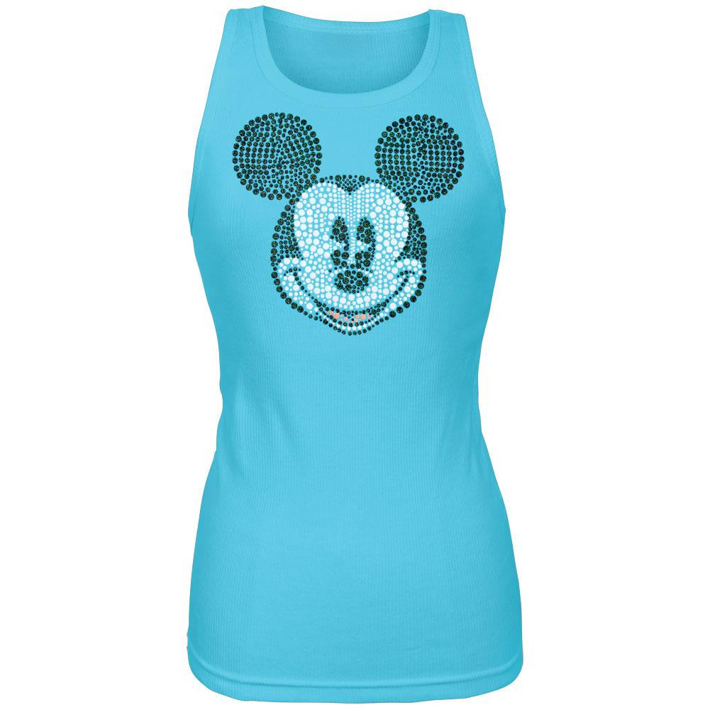 8fb0be1ad0cd6f Mickey Mouse - Bling Face Juniors Tank Top – OldGlory.com