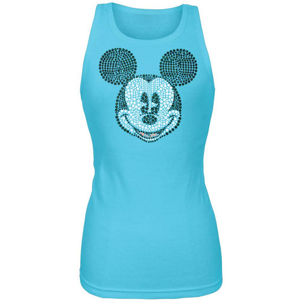 Mickey Mouse - Bling Face Juniors Tank Top