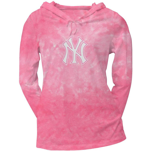New York Yankees - Logo Tie Dye Juniors Thermal Hoodie