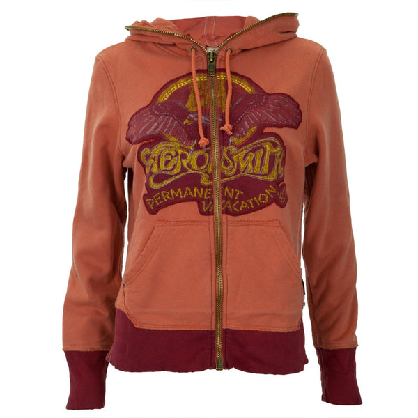 Aerosmith - Eagle Logo Orange Premium Juniors Zip Hoodie