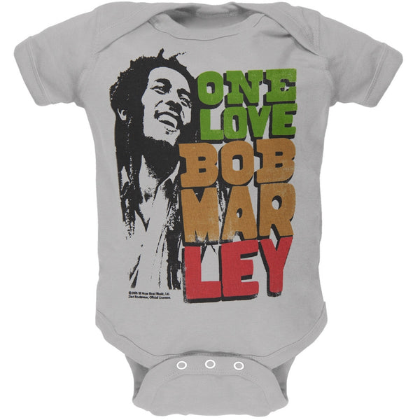 Bob Marley - One Love Profile Stack Baby One Piece