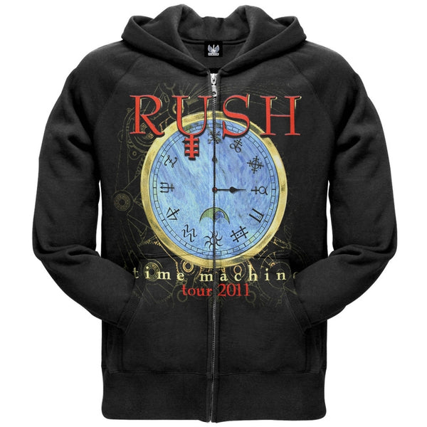 Rush - Time Machine Clock Zip Hoodie