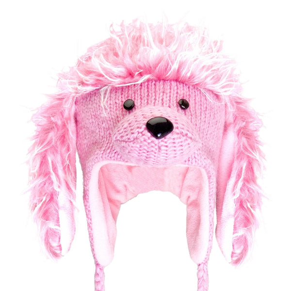 Precious the Poodle Pink Kids Peruvian Knit Hat