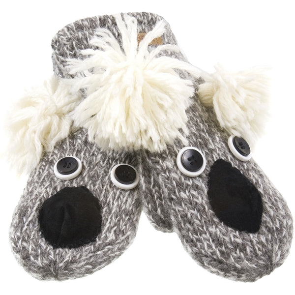 Kirby The Koala Kids Knit Mittens