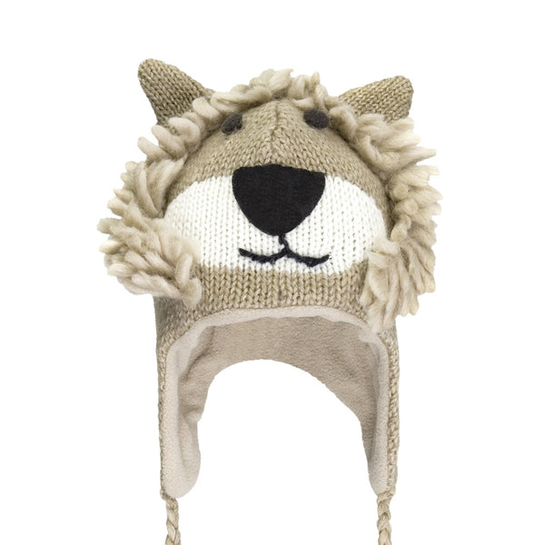 Lincoln The Lion Kids Peruvian Knit Hat